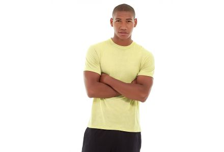 Aero Daily Fitness Tee-L-Yellow